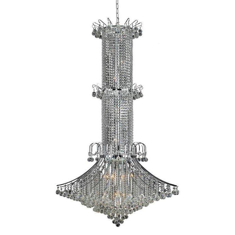 Elegant Lighting Value Toureg 20 Light Chrome Chandelier Clear Royal Cut Crystal (V8008G44C/RC)