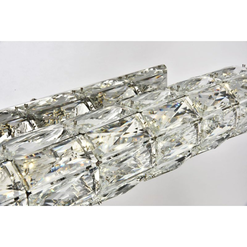 Elegant Lighting Value Valetta Integrated LED chip Light Chrome Wall Sconce Clear Royal Cut Crystal (3501W30C)