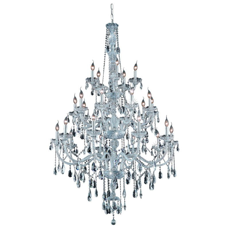Elegant Lighting Verona 25 Light Chrome Chandelier Clear Elegant Cut Crystal (7925G43C/EC)