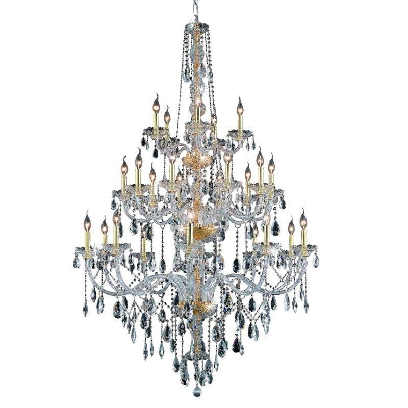 Elegant Lighting Verona 25 Light Gold Chandelier Clear Elegant Cut Crystal (7925G43G/EC)