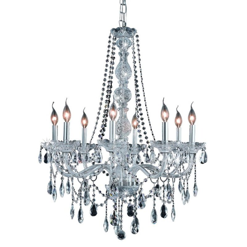 Elegant Lighting Verona 8 Light Chrome Chandelier Clear Elegant Cut Crystal (7958D28C/EC)
