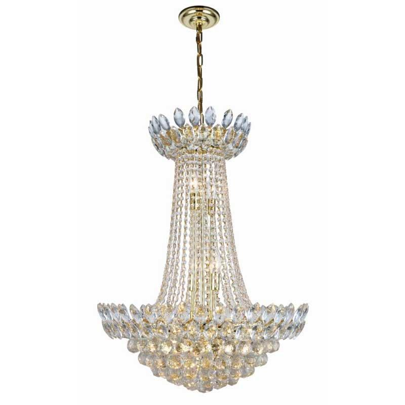 Elegant Lighting Vesper 13 Light Gold Chandelier Clear Royal Cut Crystal (3002D32G/RC)