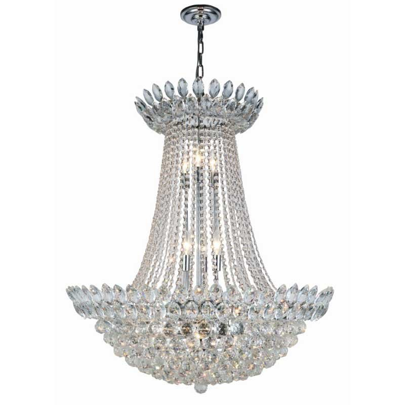 Elegant Lighting Vesper 17 Light Chrome Chandelier Clear Royal Cut Crystal (3002D30C/RC)