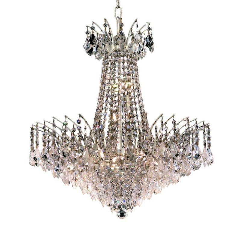 Elegant Lighting Victoria 11 Light Chrome Chandelier Clear Spectra Swarovski Crystal (8033D24C/SA)