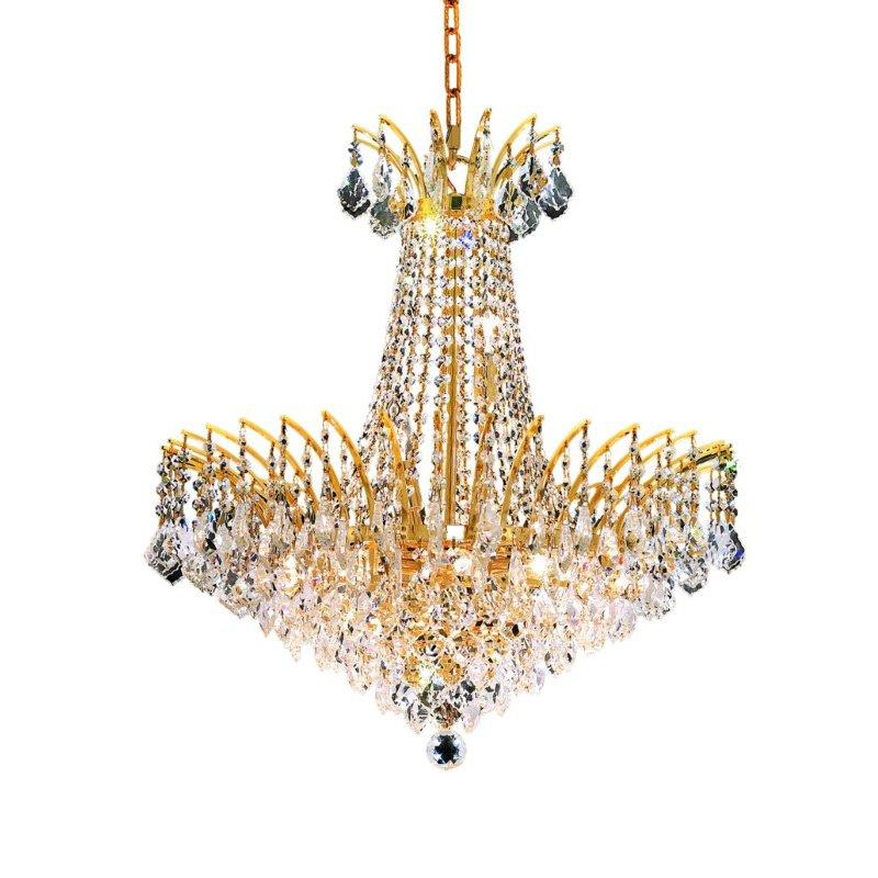 Elegant Lighting Victoria 11 Light Gold Chandelier Clear Royal Cut Crystal (8033D24G/RC)