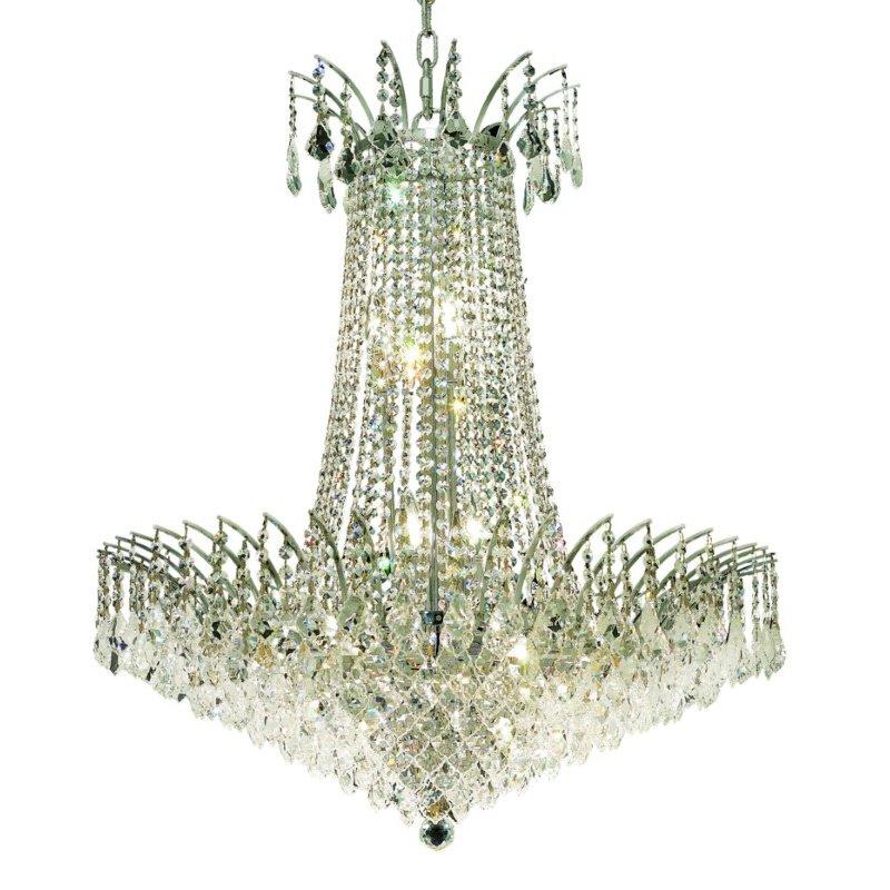 Elegant Lighting Victoria 16 Light Chrome Chandelier Clear Elegant Cut Crystal (8033D29C/EC)