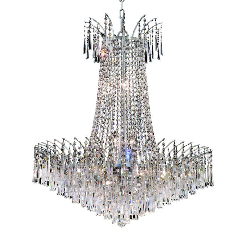 Elegant Lighting Victoria 16 Light Chrome Chandelier Clear Spectra Swarovski Crystal (8032D29C/SA)