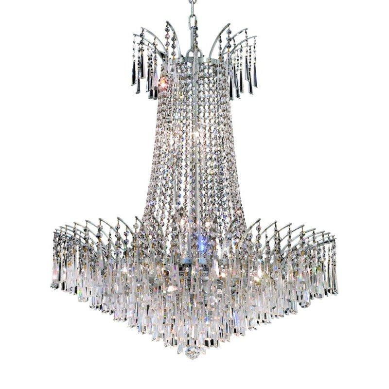 Elegant Lighting Victoria 16 Light Chrome Chandelier Clear Swarovski Elements Crystal (8032D29C/SS)