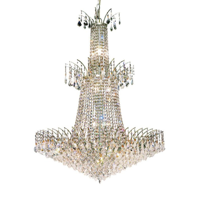 Elegant Lighting Victoria 18 Light Chrome Chandelier Clear Elegant Cut Crystal (8033G32C/EC)