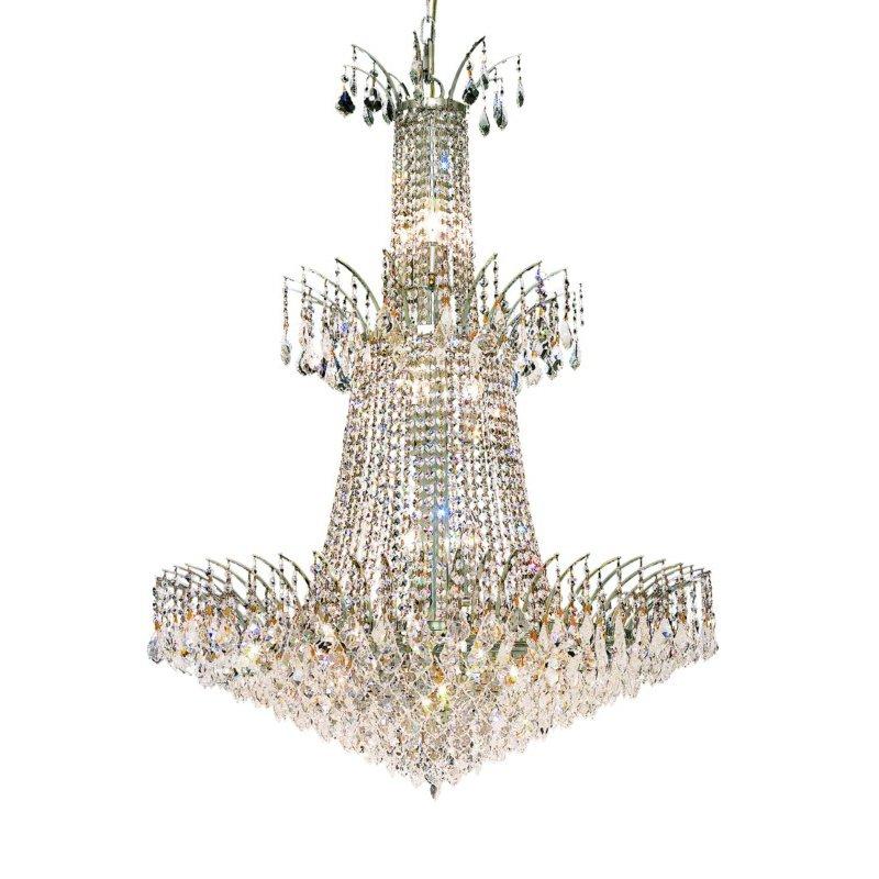 Elegant Lighting Victoria 18 Light Chrome Chandelier Clear Royal Cut Crystal (8033G32C/RC)