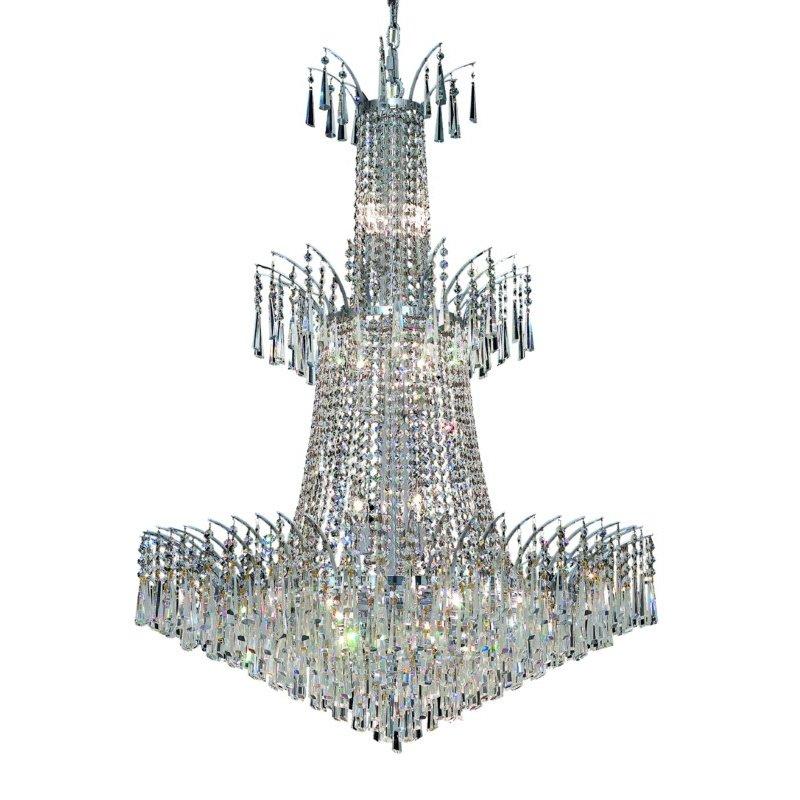 Elegant Lighting Victoria 18 Light Chrome Chandelier Clear Swarovski Elements Crystal (8032G32C/SS)