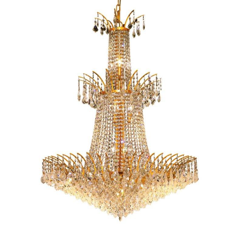 Elegant Lighting Victoria 18 Light Gold Chandelier Clear Elegant Cut Crystal (8033G32G/EC)