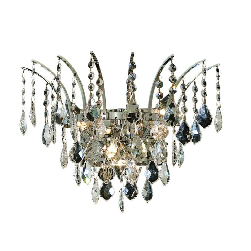 Elegant Lighting Victoria 3 Light Chrome Wall Sconce Clear Swarovski Elements Crystal (8033W16C/SS)