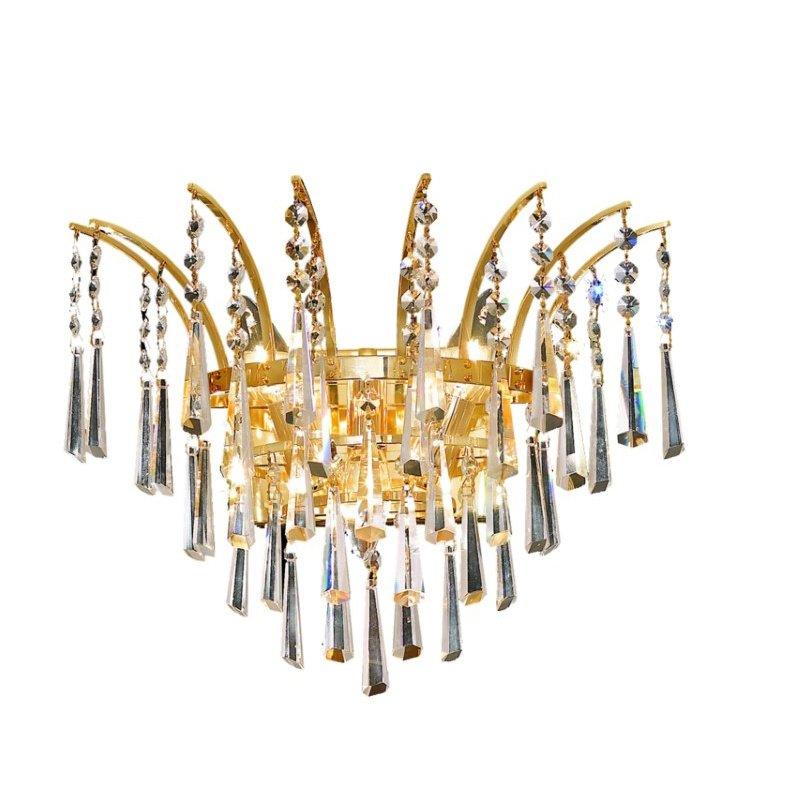 Elegant Lighting Victoria 3 Light Gold Wall Sconce Clear Elegant Cut Crystal (8032W16G/EC)