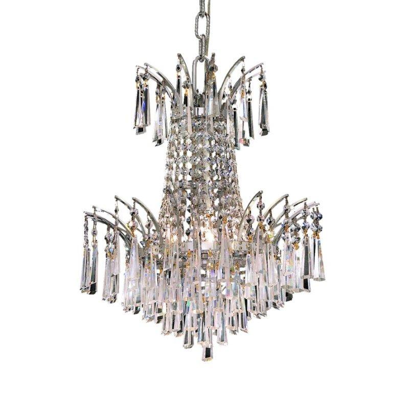 Elegant Lighting Victoria 4 Light Chrome Pendant Clear Spectra Swarovski Crystal (8032D16C/SA)