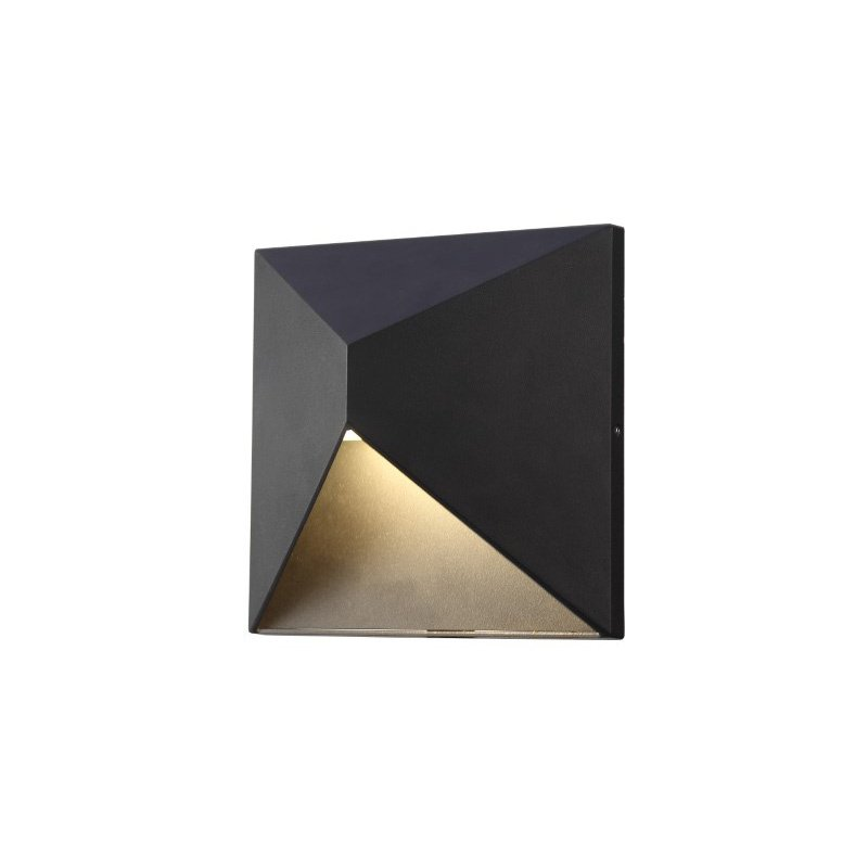 Elitco Lighting LED OUTDOOR WALL, 3000K, 120deg, CRI80, ETL, 9.5W, 47.5W EQUIVALENT, 50000HRS, LM600, NON-DIMMABLE, INPUT VOLTAGE 120V, BLACK (OD1101)
