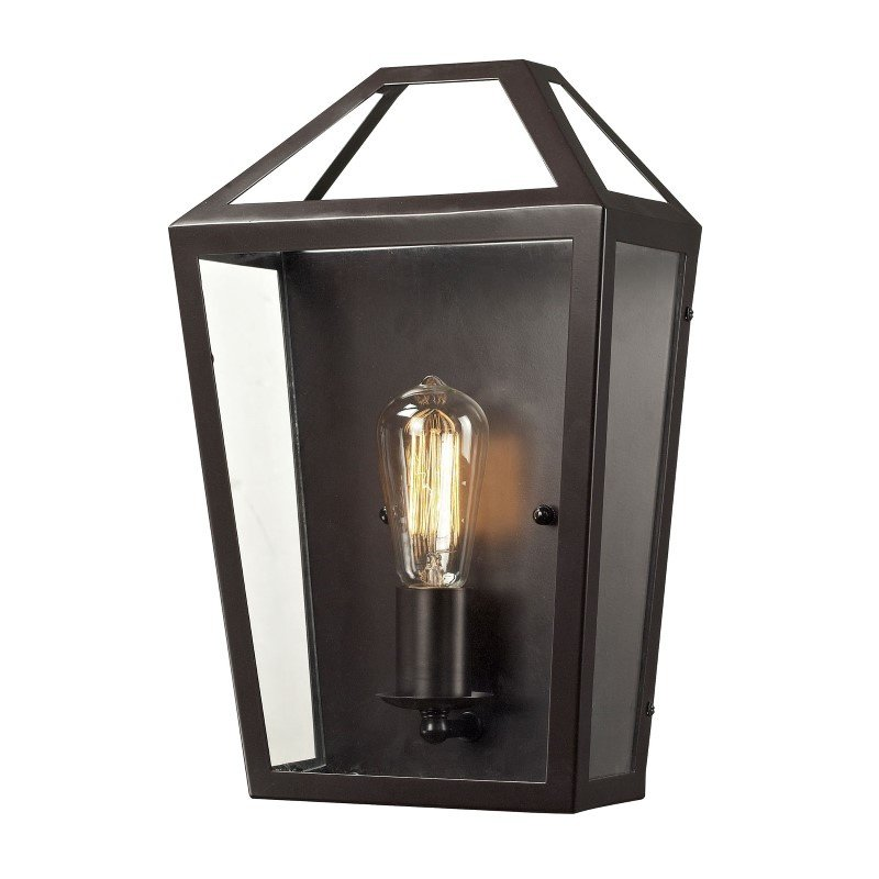 ELK Lighting Alanna 1 Light Wall Sconce In Oil Rubbed Bronze And Clear Glass (31505/1)