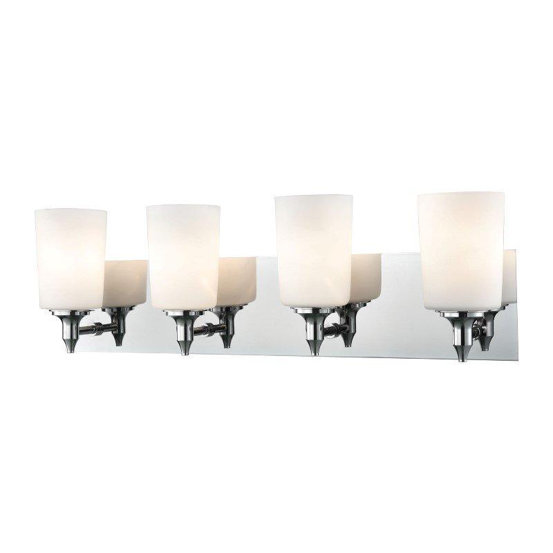 ELK Lighting Alton Road 4 Light Vanity In Chrome And Opal Glass (BV2414-10-15)