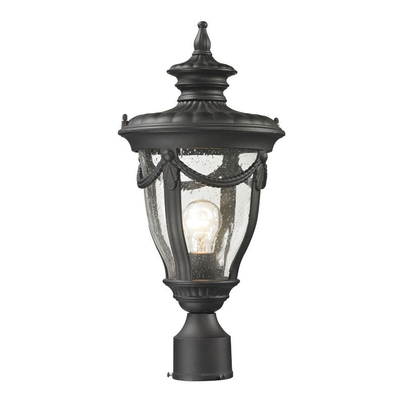 ELK Lighting Anise 1 Light Outdoor Post Light In Textured Matte Black (45079/1)
