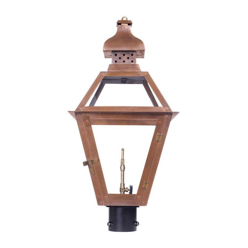 ELK Lighting Bayou Outdoor Gas Post Lantern In Aged Copper (7918-WP)