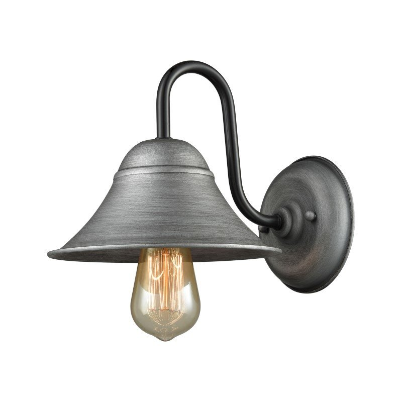 ELK Lighting Binghamton 1 Light Wall Sconce in Weathered Zinc And Oil Rubbed Bronze (65205/1)