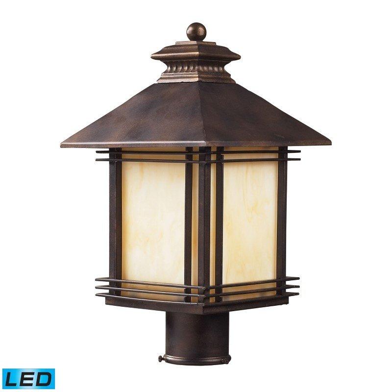 ELK Lighting Blackwell 1 Light Outdoor LED Post Lamp In Hazelnut Bronze (42104/1-LED)