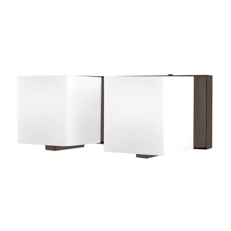 ELK Lighting Borg 2 Light Vanity In Oil Rubbed Bronze And White Opal Glass (BV742-10-45)