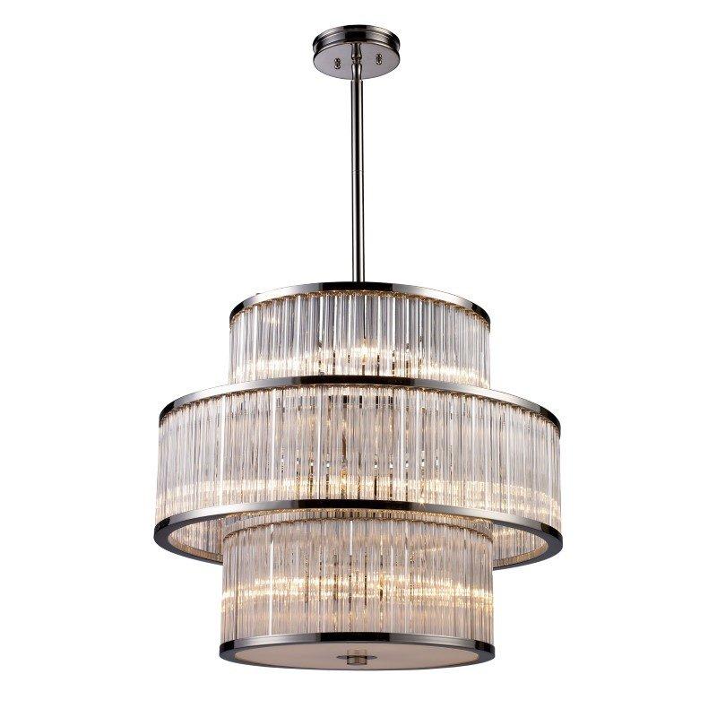 ELK Lighting Braxton 15 Light Pendant In Polished Nickel (10130/5+5+5)