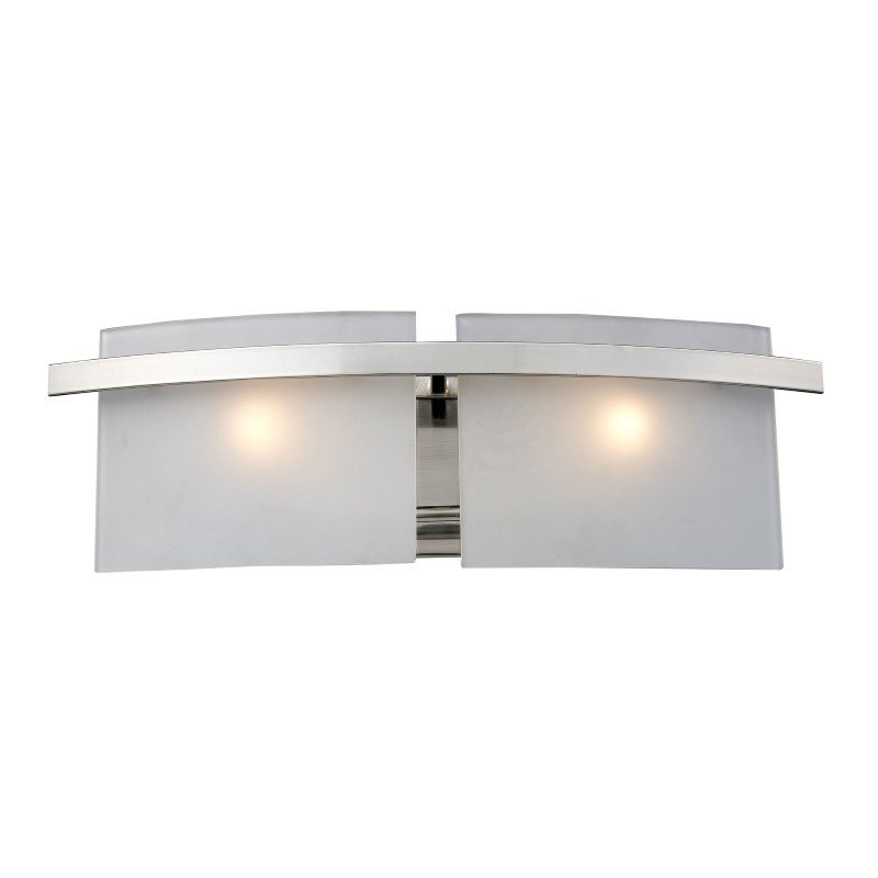ELK Lighting Briston 2 Light Vanity In Satin Nickel And Frosted White Glass (11281/2)