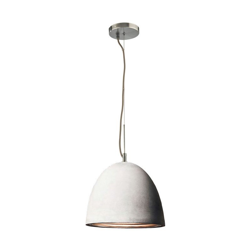 ELK Lighting Castle 1 Light Pendant in Poured Concrete with Chrome Reflector - Large (PS4703-140-15)