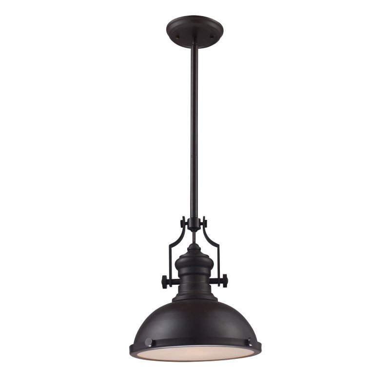 ELK Lighting Chadwick 1 Light Pendant In Oiled Bronze (66134-1)