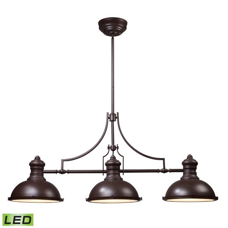 ELK Lighting Chadwick 3 Light LED Billiard In Oiled Bronze (66135-3-LED)