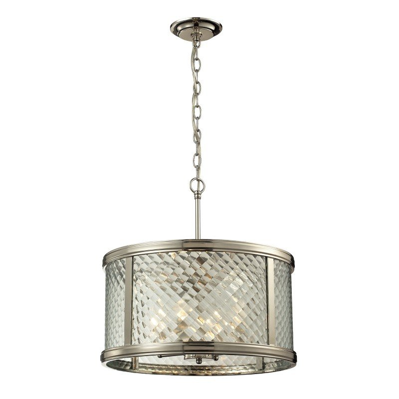 ELK Lighting Chandler 4 Light Pendant In Polished Nickel And Clear Glass (31462/4)