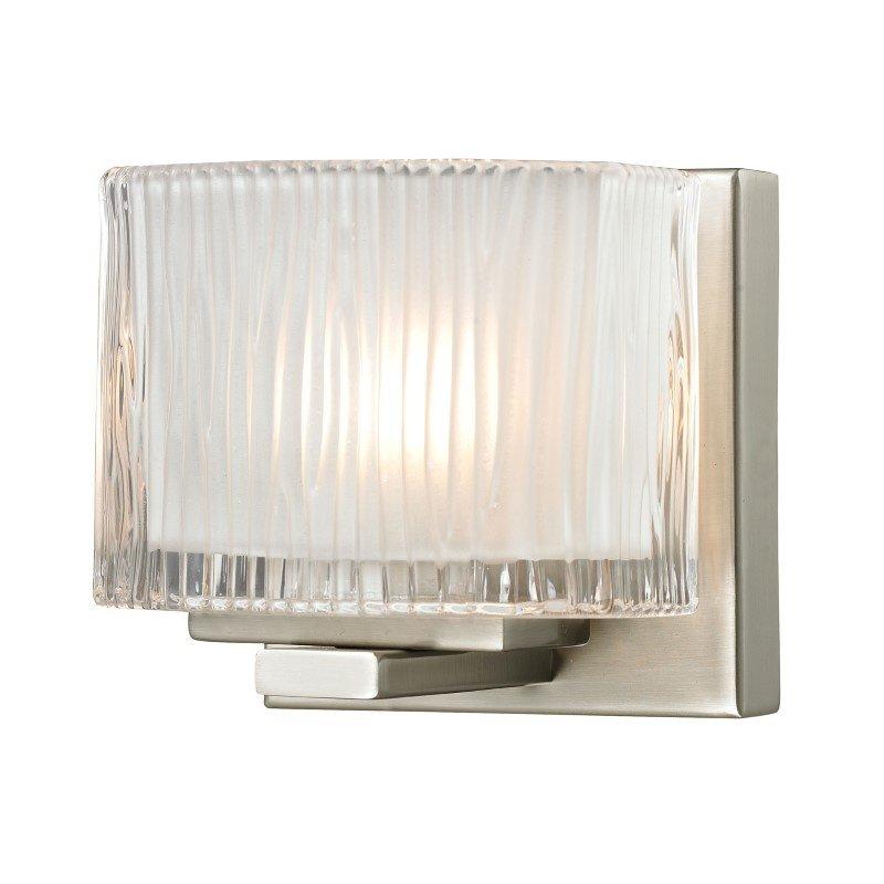 ELK Lighting Chiseled Glass 1 Light Vanity In Brushed Nickel (11630/1)