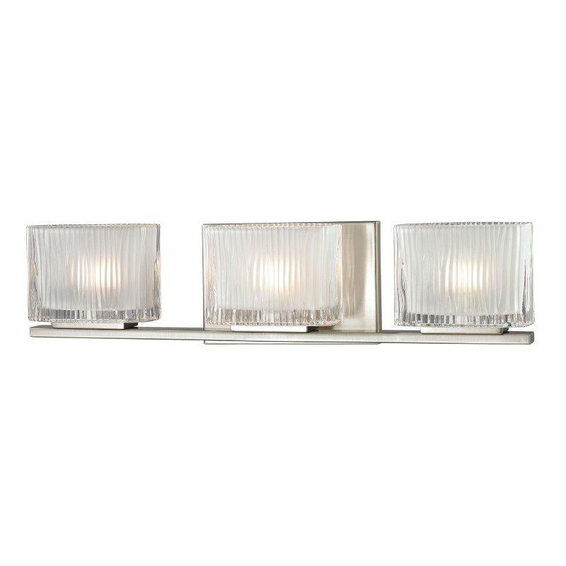 ELK Lighting Chiseled Glass 3 Light Vanity In Brushed Nickel (11632/3)