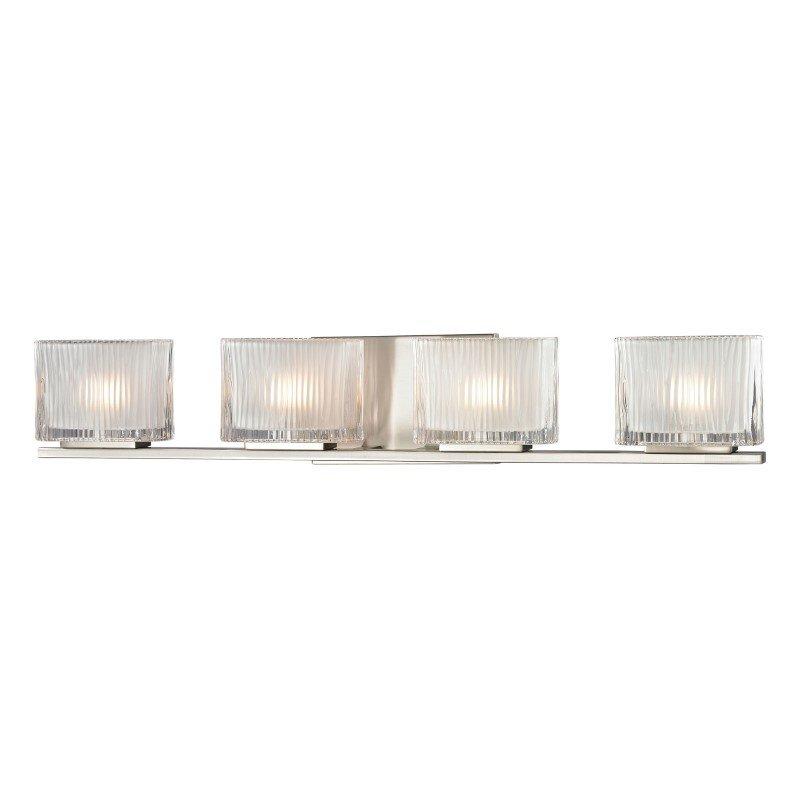 ELK Lighting Chiseled Glass 4 Light Vanity In Brushed Nickel (11633/4)