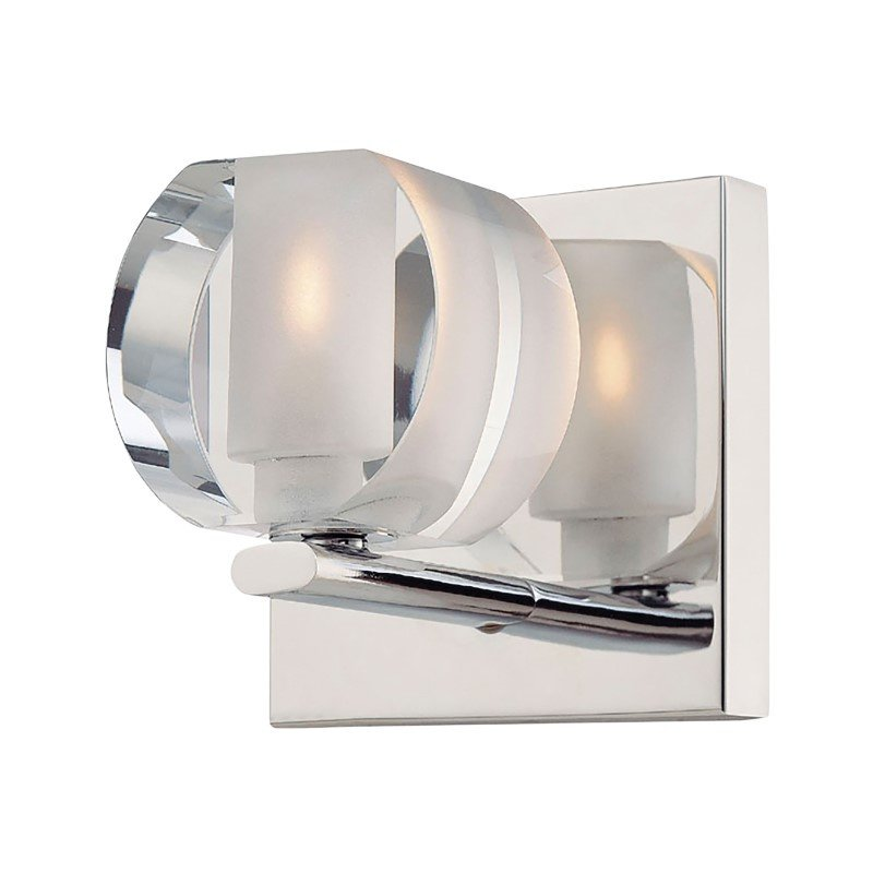 ELK Lighting Circo 1 Light Vanity In Chrome And Polished Clear Glass (BV301-90-15)
