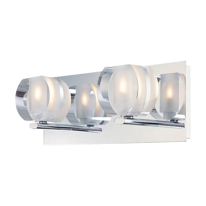 ELK Lighting Circo 2 Light Vanity In Chrome And Polished Clear Glass (BV302-90-15)