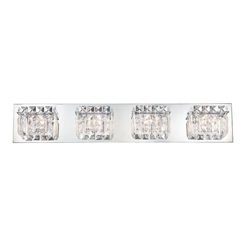 ELK Lighting Crown 4 Light Vanity In Chrome And Clear Crystal Glass (BV1004-0-15)