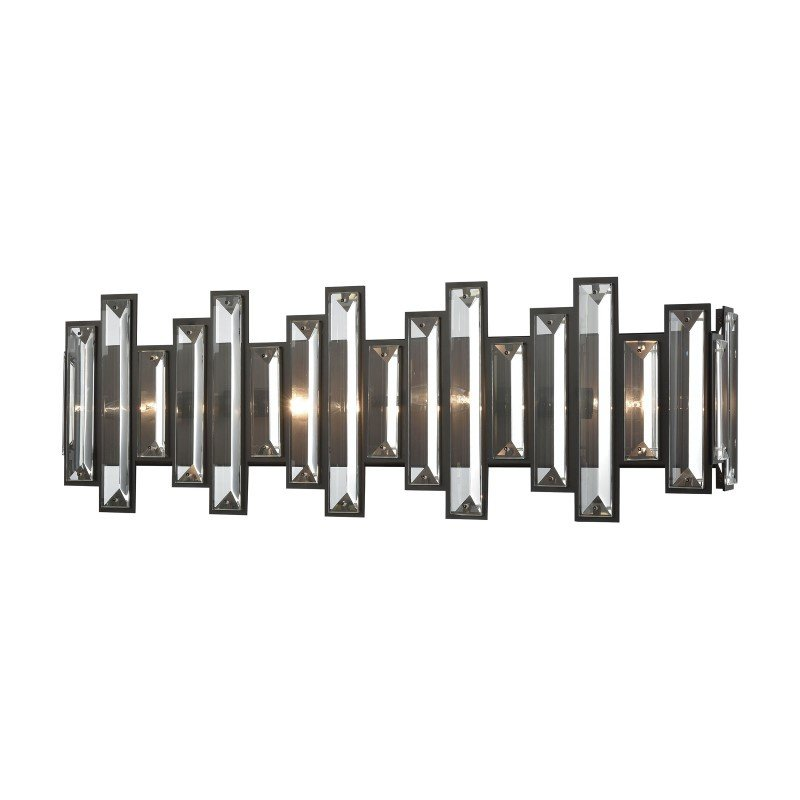 ELK Lighting Crystal Heights 4 Light Vanity in Oil Rubbed Bronze with Clear Crystal (33001/4)