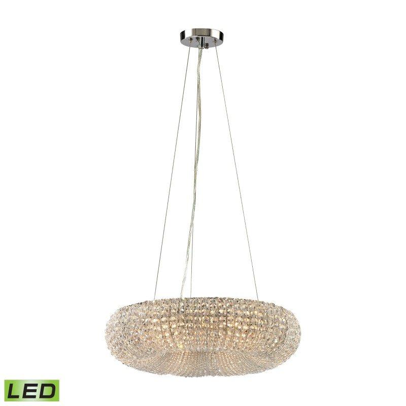 ELK Lighting Crystal Ring 6 Light LED Chandelier In Polished Chrome (45291/6-LED)