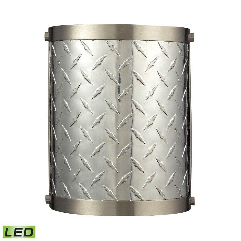ELK Lighting Diamond Plate 1 Light LED Sconce In Brushed Nickel (31420/1-LED)