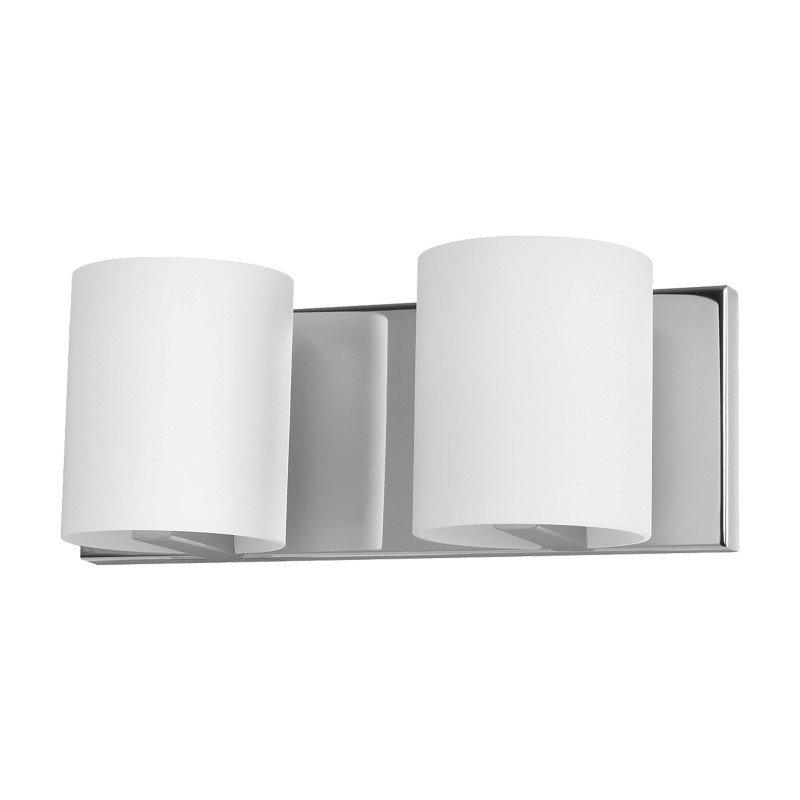 ELK Lighting Enterprise 2 Light Vanity In Chrome And White Opal Glass (BV862-10-15)