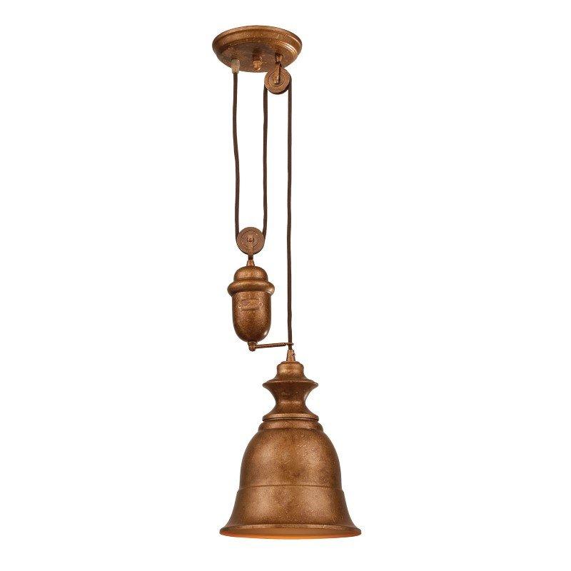 ELK Lighting Farmhouse 1 Light Adjustable Pendant In Bellwether Copper (65060-1)
