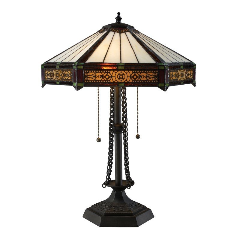 ELK Lighting Filigree 2 Light Table Lamp in Tiffany Bronze (D1852)