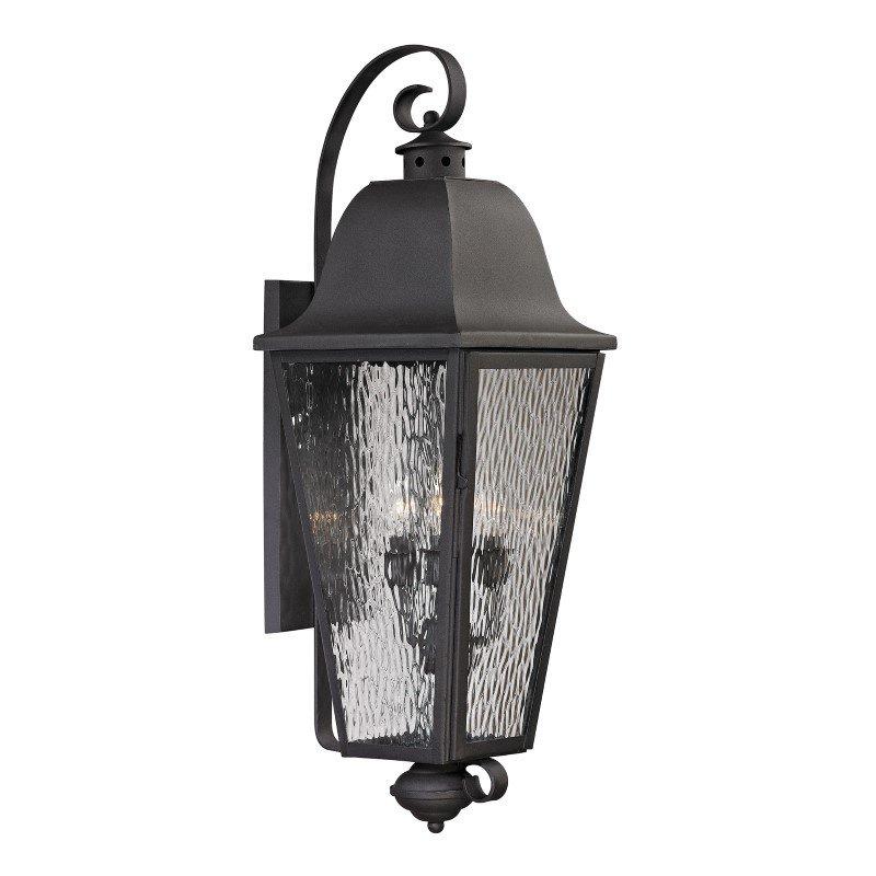 ELK Lighting Forged Brookridge 4 Light Outdoor Sconce In Charcoal (47103/4)