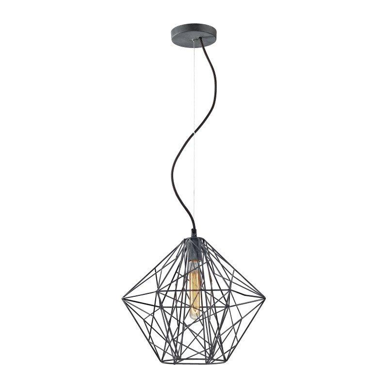 ELK Lighting Geoweb 1 Light Pendant In Urban Concrete (14272/1)
