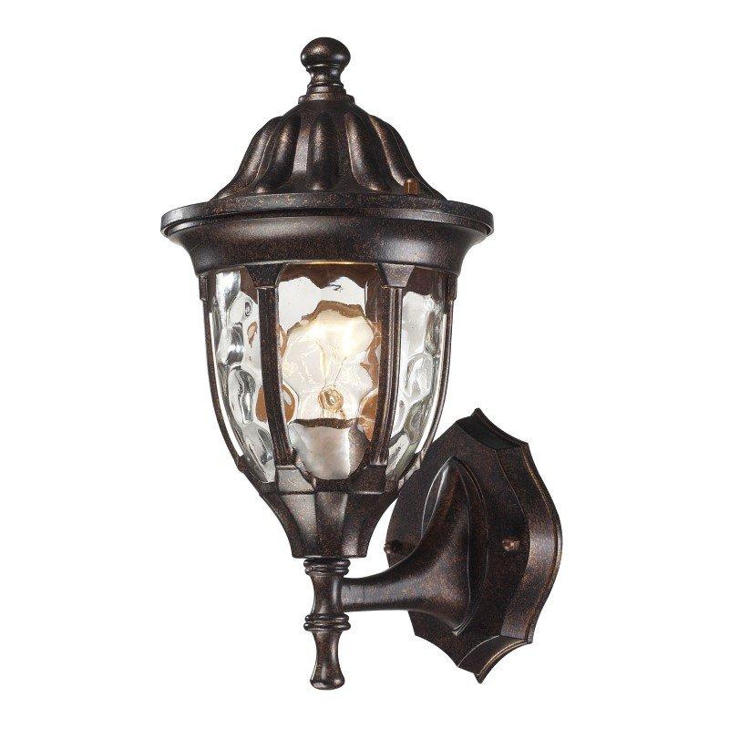 ELK Lighting Glendale 1 Light Outdoor Wall Mount In Regal Bronze (45000/1)