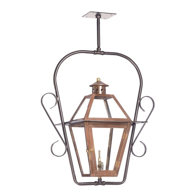 ELK Lighting Grande Isle Outdoor Gas Ceiling Lantern In Aged Copper (7932-WP)