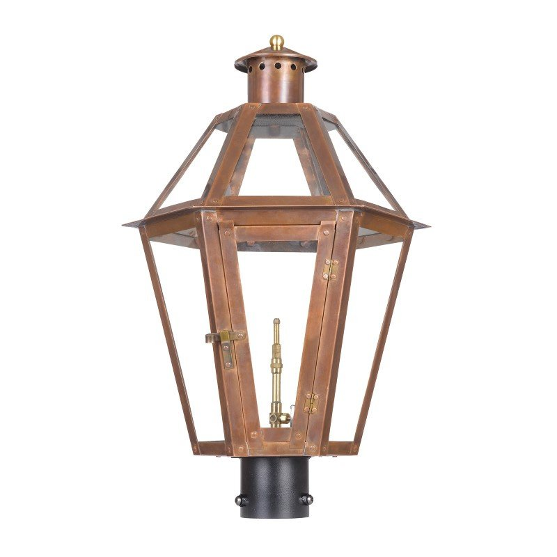 ELK Lighting Grande Isle Outdoor Gas Post Lantern In Aged Copper (7922-WP)